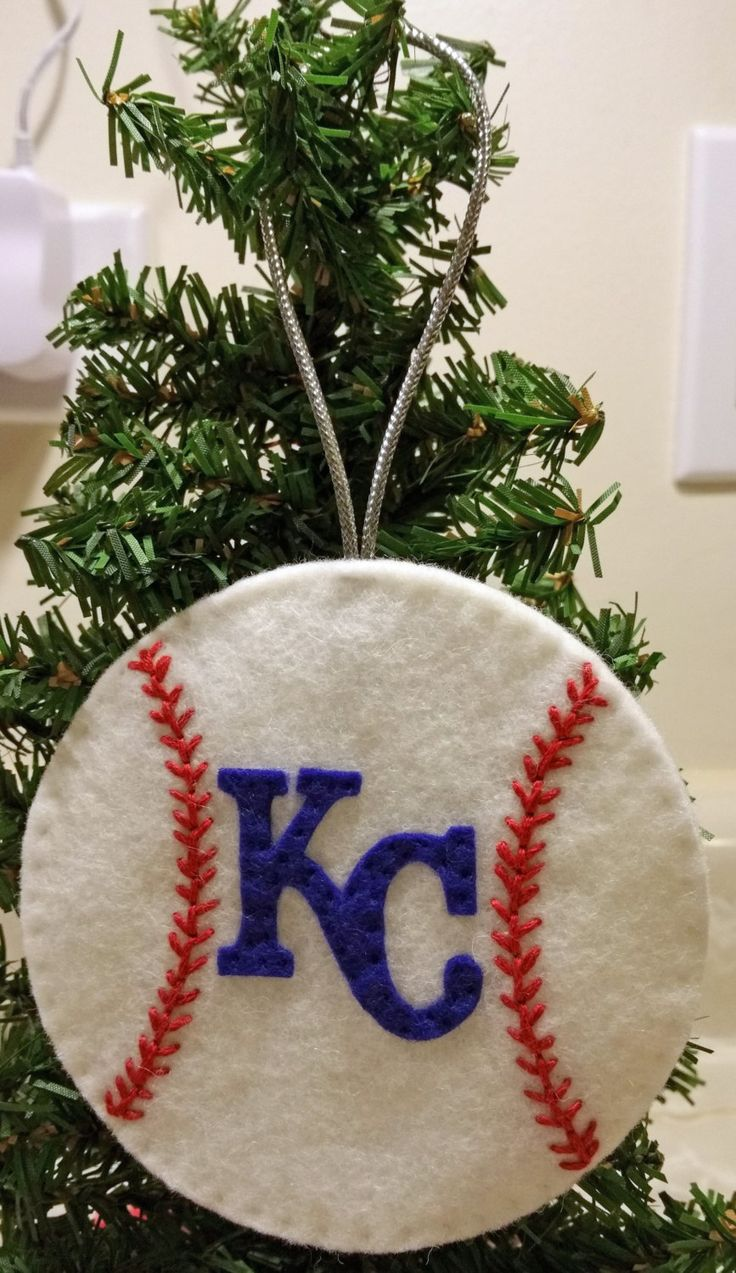 Sports christmas ornaments - Felt Christmas Ornament Kansas City Royals Baseball Pinned By Pin4etsy Com