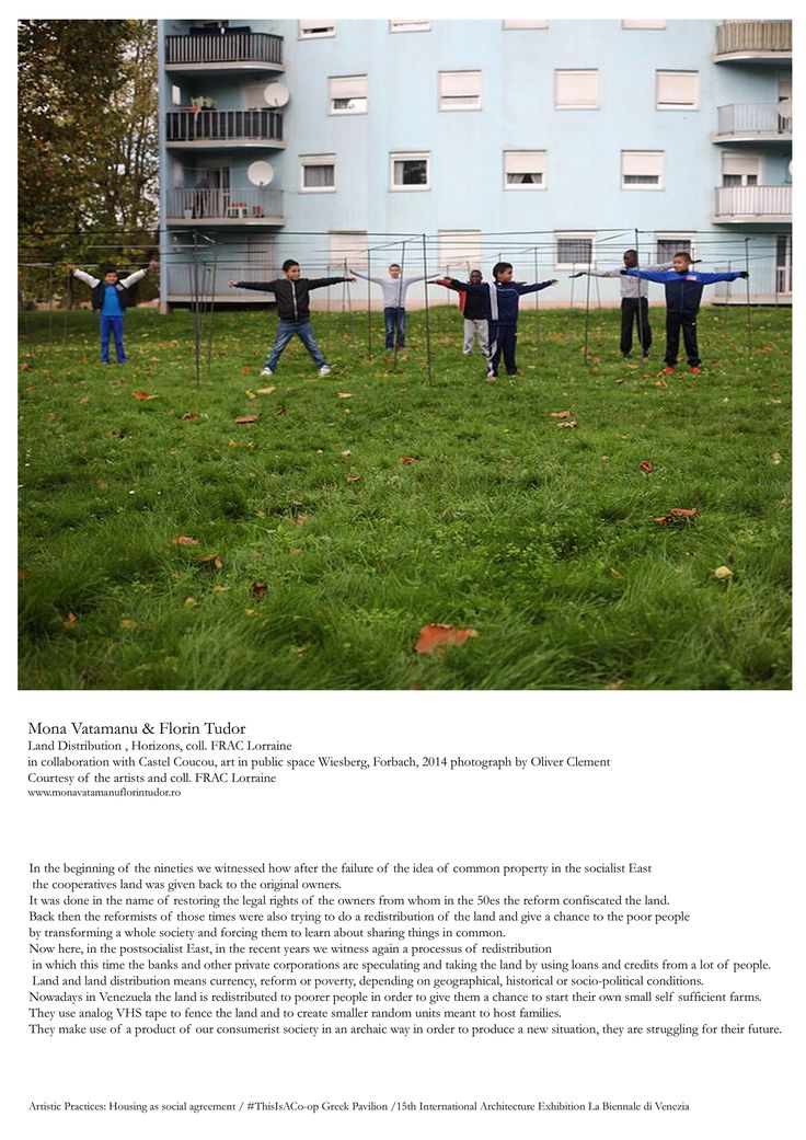 Mona Vatamanu & Florin Tudor , Land Distribution , Horizons, coll. FRAC Lorraine in collaboration with Castel Coucou, art in public space Wiesberg, Forbach, 2014 photograph by Oliver Clement Courtesy of the artists and coll. FRAC Lorraine www.monavatamanuflorintudor.ro