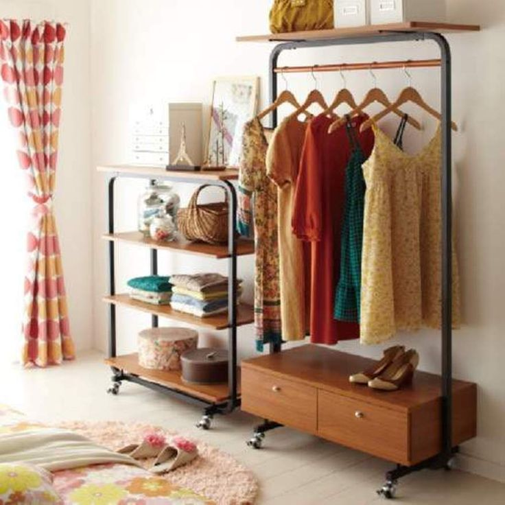 Storage And Organization , Great Closet Storage Ideas : Freestanding Closet  Storage With Drawers And Wheels