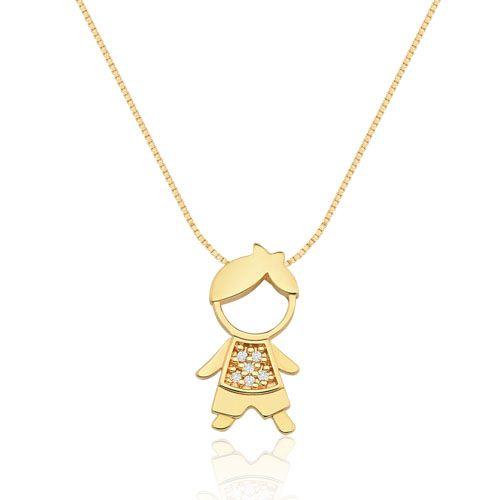 Pingente Menino Ouro Amarelo e Diamantes Mama  571a1e0c76241
