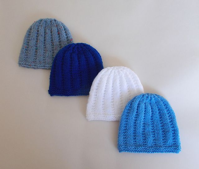 A lovely little knitted baby hat - just perfect for a newborn baby boy or gir...