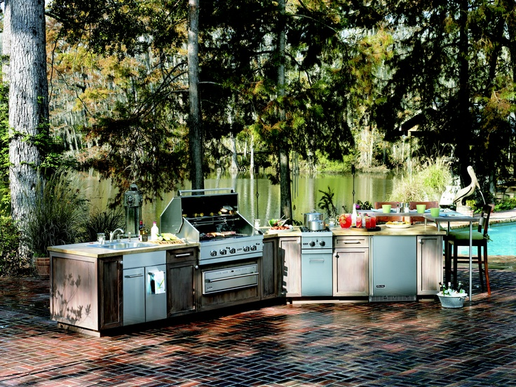 53 Best Outdoor Kitchens Images On Pinterest  Outdoor Cooking Cool Outside Kitchens Designs Inspiration Design