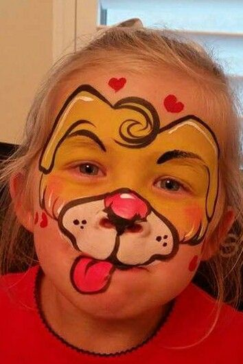 I love face painting this little puppy inspired by Lenore Koppelman!
