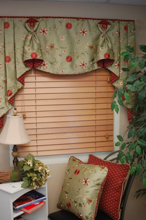 This custom window valance is a Black Belt Home Decor original that was designed and constructed by me. It features my new innovative Hidden