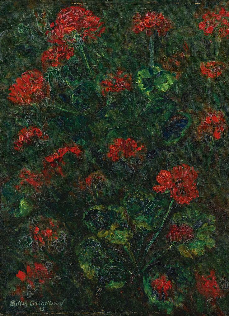 Boris Grigoriev -   Geraniums