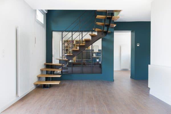 Escalier double quart tournant, fabriqués sur mesure et pas cher en 2020 | Idées escalier ...