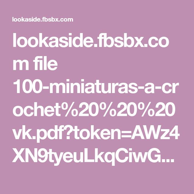 Best 25 w4 pdf ideas on pinterest sewing patterns free sewing lookasidefbsbx file 100 miniaturas a crochet20 fandeluxe Gallery
