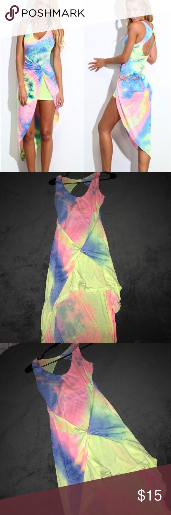 Sexy backless summer boho long maxi tie dye dress! Sexy backless/ summer boho/ long maxi/ tie dye dress/ size small / never worn had it forever / fits great and it's super lights and cute!! Dresses Maxi
