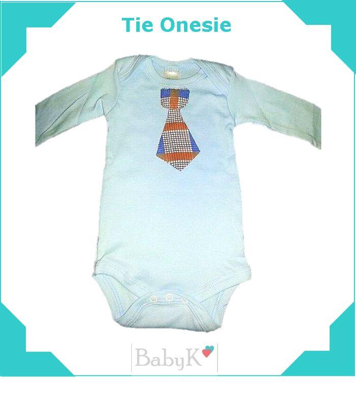 Tie Onesie for little boys by BabyK.