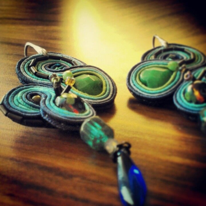 Soutache earrings by joanka-k.blogspot.com