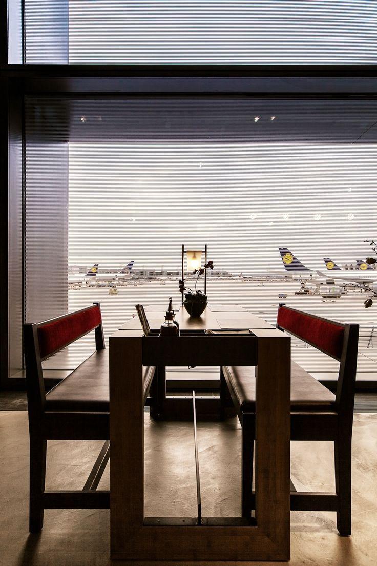 coa asian food & bar. asian inspired interior design.  Frankfurt Airport, Terminal 1. www.coa.as