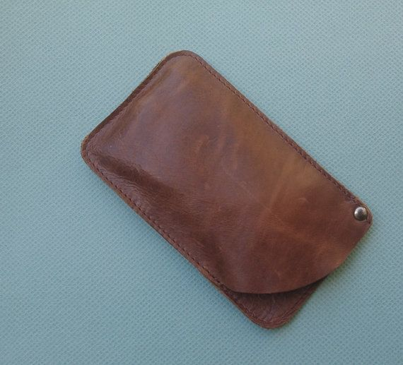 FREE SHIPPING Vintage brown leather sunglasses case by PurJusShop