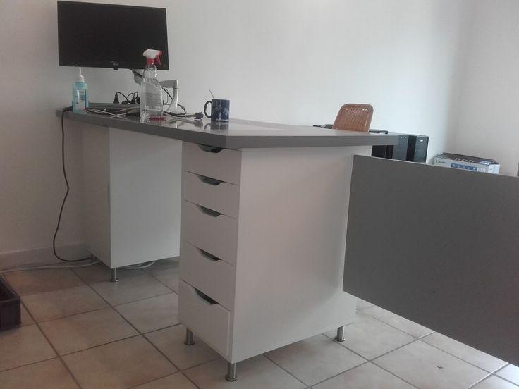 comptoir d accueil et bureau pas cher pour un petit commerce. Black Bedroom Furniture Sets. Home Design Ideas