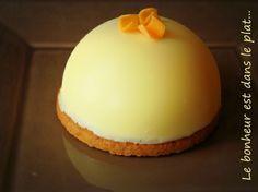 Cheesecake chocolat blanc, coco et coeur de mangue