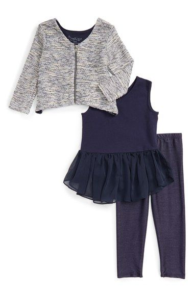 Free shipping and returns on Pippa & Julie Cardigan, Tunic & Leggings Set (Toddler Girls & Little Girls) at Nordstrom.com. A shimmery cardigan, ruffle-trimmed tunic and indigo jeggings combine for an irresistibly sweet ensemble.