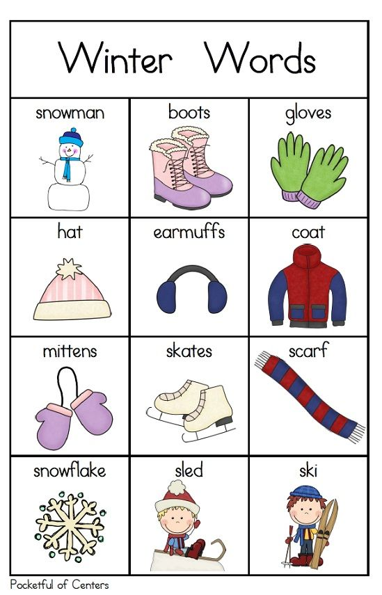 Winter Words for your Writing Center