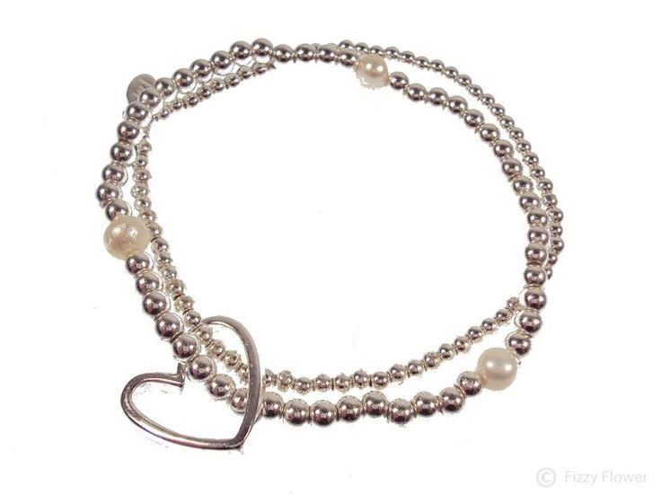Lila Bracelet Silver & White Pearl By Joma KQSIpjvT