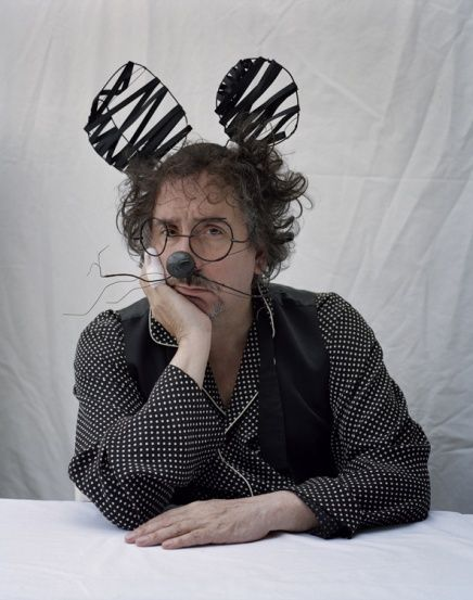 TIM BURTON WITH MOUSE MASK,  ESSEX, UK, 2009, HARPER'S BAZAAR * Tim Walker Photography