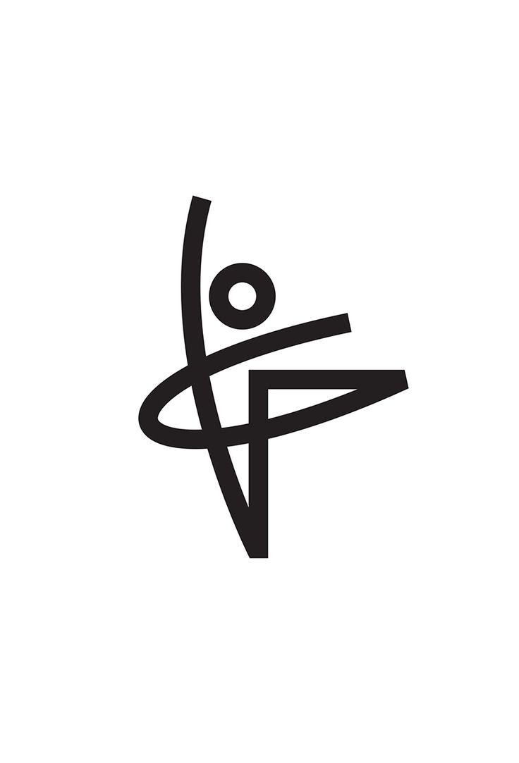 Ballet Logo Concept Designed by Tony Beard /  Ballet Dancer Human Form Linear Logo Design