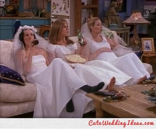 Friends TV wedding dress