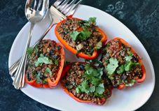 Quinoa Stuffed Peppers [Vegan]