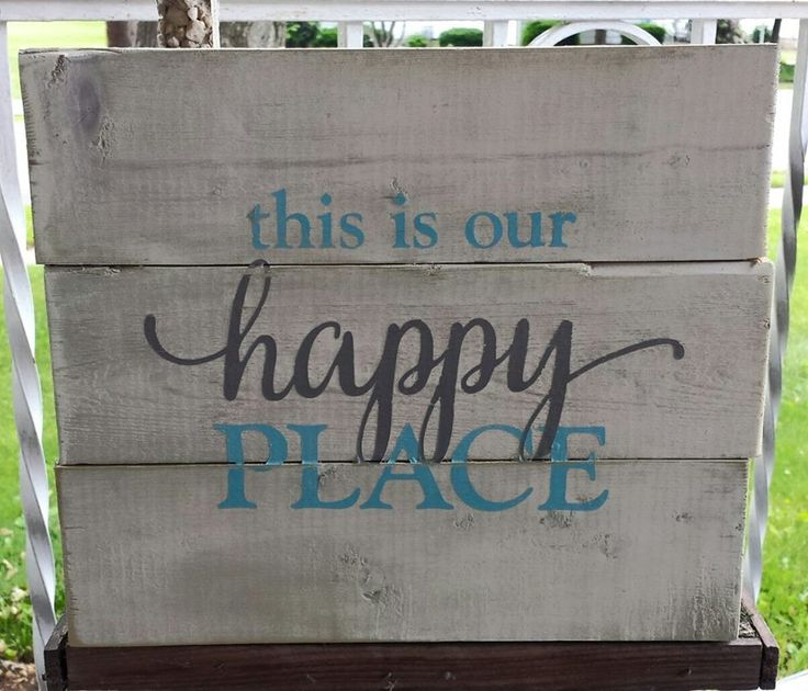 "9.5"" x 11"" wooden pallet sign Great addition to your home or as a housewarming gift for someone special. Whitewashed background with light blue and grey letteri"