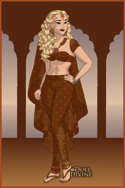 Princesa Nallely en traje Árabe
