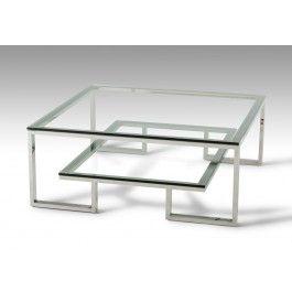 Modrest Topaz Modern Glass Coffee Table -