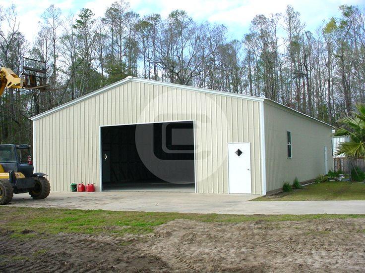 32' x 52' x 12' enclosed metal garage, includes (1) 10' x ...