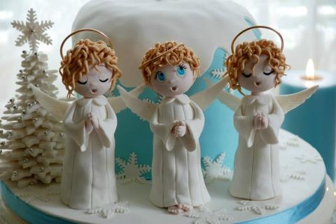 Christmas Angels by Alessandra cake designer - Studio Cake