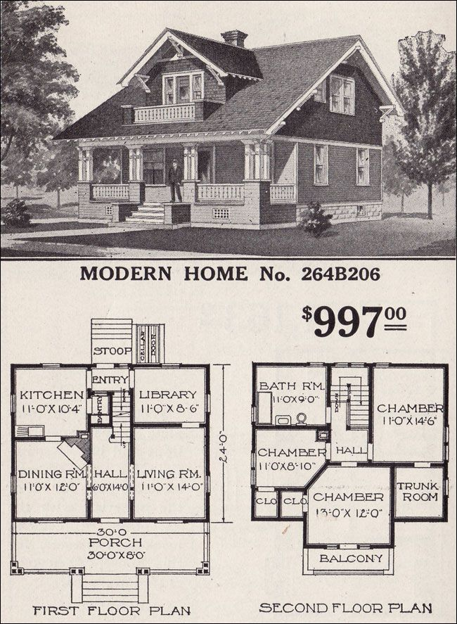 1916 Sears Roebuck Modern Home No 264B206