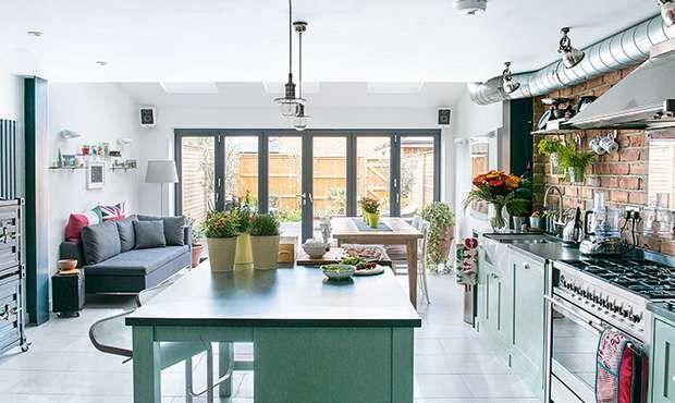 New York loft-style kitchen extension