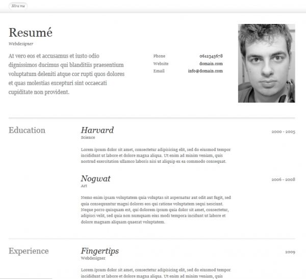 87 best Resume \/ CV Templates images on Pinterest Curriculum - free html resume templates