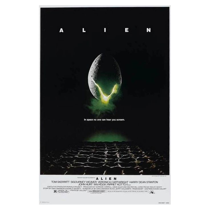 Alien Movie Poster 24x36 Poster In space... No one can hear you scream. Check out this cool recreation of the original poster for the alien movies!  #alien #xenomorph #aliens #scifi #horror #movie #movies #scary #cool