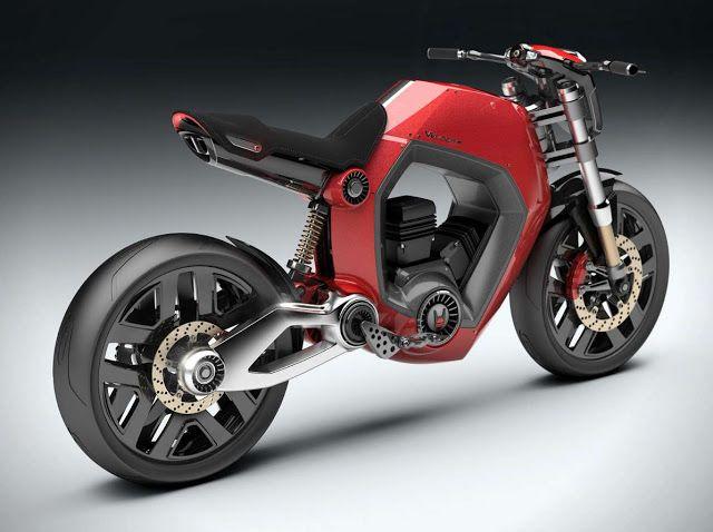 Velocita, futuristic motorcycle concept bike. Very cool.