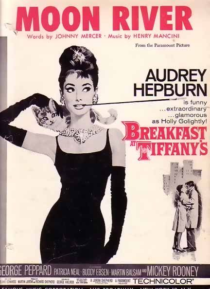 I love Audrey Hepburn's rendition of 'Moon River' in Breakfast at Tiffany's.