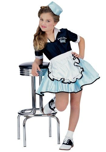 Kids Car Hop Girl Costume - cute! Sarah would love it since she is always pretending to be a waitress.