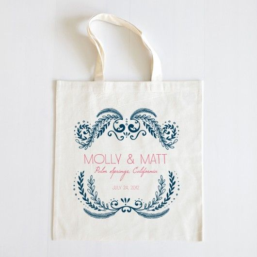 The Molly Welcome Wedding Tote Set of 20 $100  Possible gift for out of towners at the hotel?