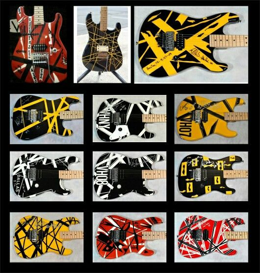 Eddy Vanhalen guitars.. | My Style & Cool Stuff ...Eddie Van Halen Guitar Design