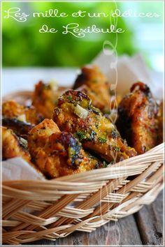 les milles & un délices de ~lexibule~: ~Ailes de poulet à la moutarde et crumble d'oignons frits~