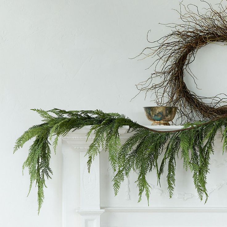 Synthetic Pine Garland in New Lighting + Garlands at Terrain
