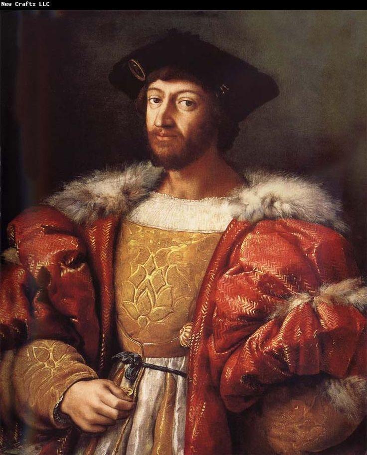 Portrait of Lorenzo de Medici, by Raffaello Sanzio da