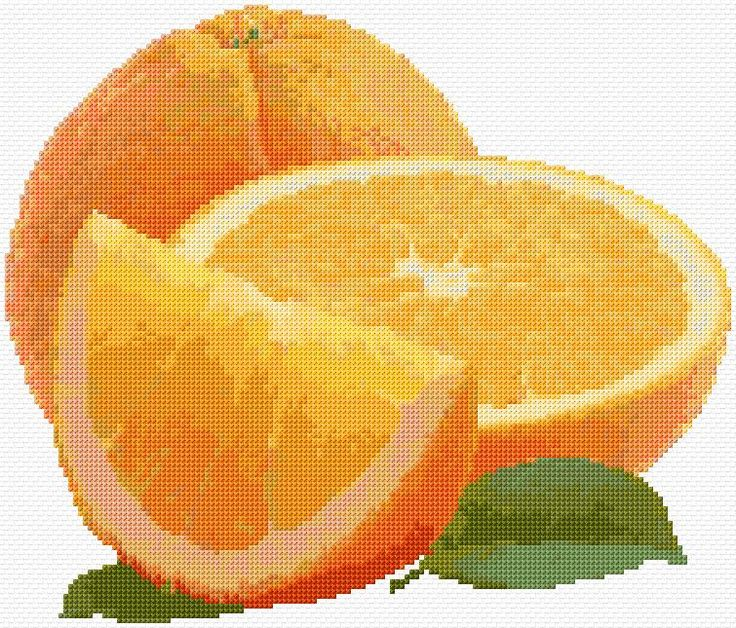 Cross Stitch | Oranges xstitch Chart | Design
