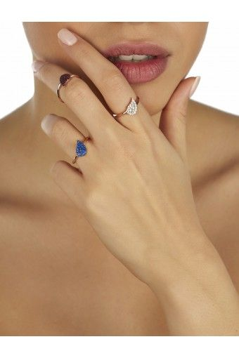 Paisley Ring - Blue