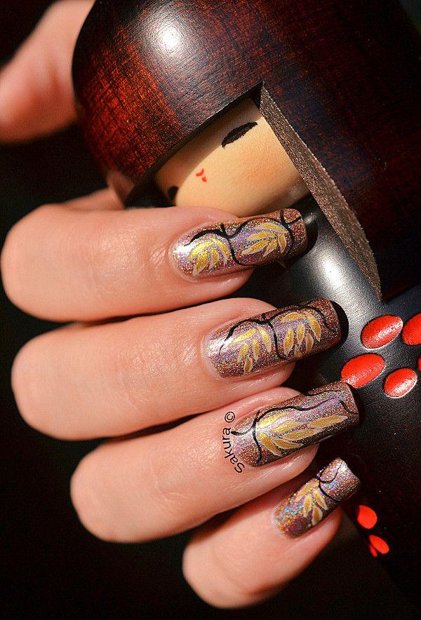 NAI L ART CHARDON DORE 9: Nails Design