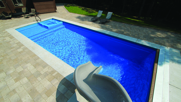 The Icon | Leisure Pools, fiberglass with splash deck & spa