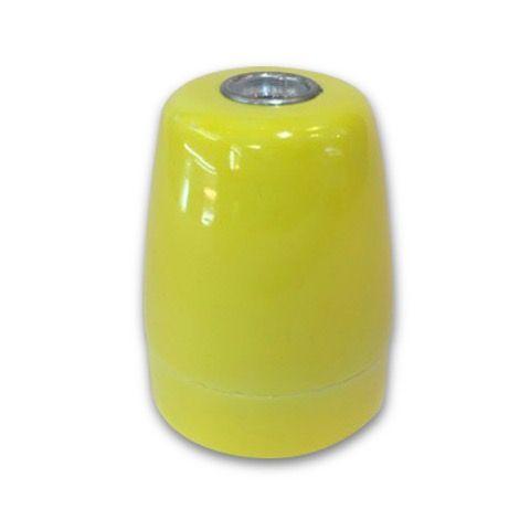 Portalámparas E27 porcelana amarillo  #lamparas #montar #fabricar #decoracion #accesorios #piezas