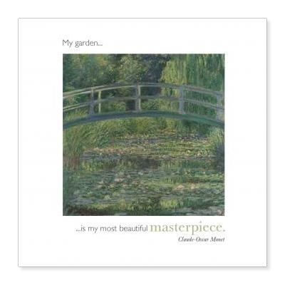 Water lily pond greetings card with inspirational quote for Garden pond quotes