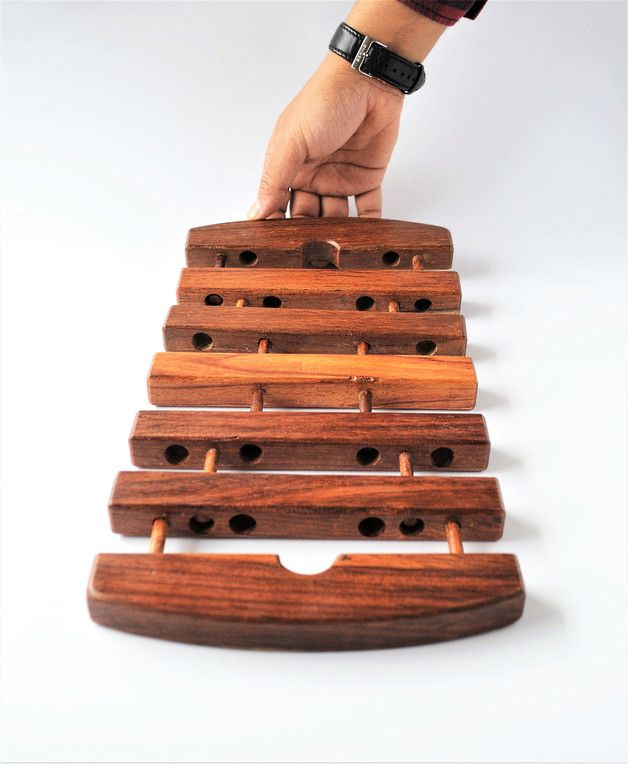 Kitchen Accessories – Expandable rectangle wooden Trivet, coaster, Egypt – a unique product by Omar-Handmade on DaWanda
