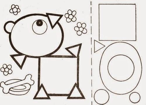 Рисунки из геометрических фигур аппликация